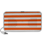 Broad Stripes - White and Tangelo Travelling Speaker