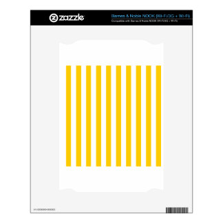 Broad Stripes - White and Tangerine Yellow NOOK Skins