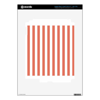 Broad Stripes - White and Terra Cotta iPad 3 Decal