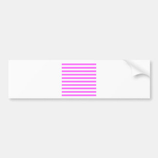 Broad Stripes - White and Ultra Pink Bumper Sticker