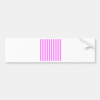 Broad Stripes - White and Ultra Pink Bumper Stickers
