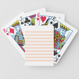 Broad Stripes - White and Unbleached Silk Bicycle Poker Deck