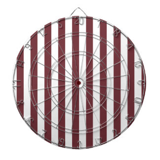 Broad Stripes - White and Wine Dartboard