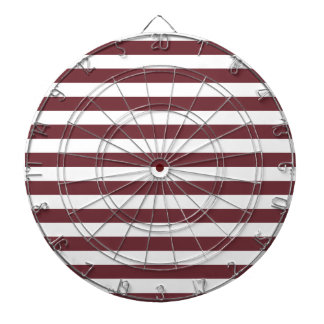 Broad Stripes - White and Wine Dart Boards