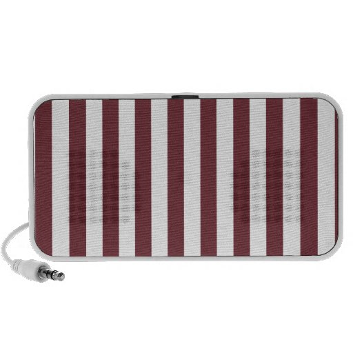 Broad Stripes - White and Wine Speaker System