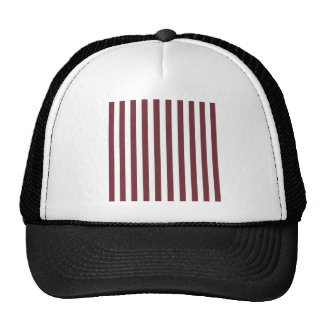 Broad Stripes - White and Wine Trucker Hat
