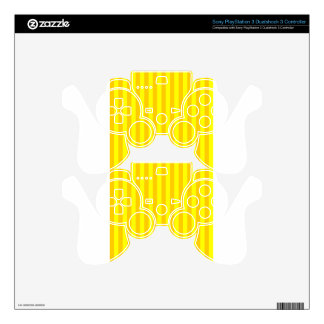 Broad Stripes-Yellow - Yellow and Tangerine Yellow Decal For PS3 Controller