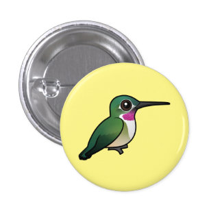 Broad-tailed Hummingbird 1 Inch Round Button