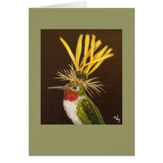 Broad-Tailed hummingbird card