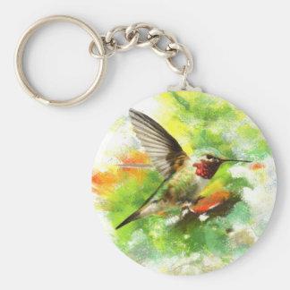 Broad tailed Hummingbird Keychain