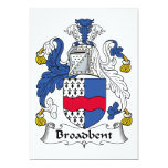 Broadbent Family Crest Personalized Invite