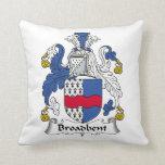 Broadbent Family Crest Pillow