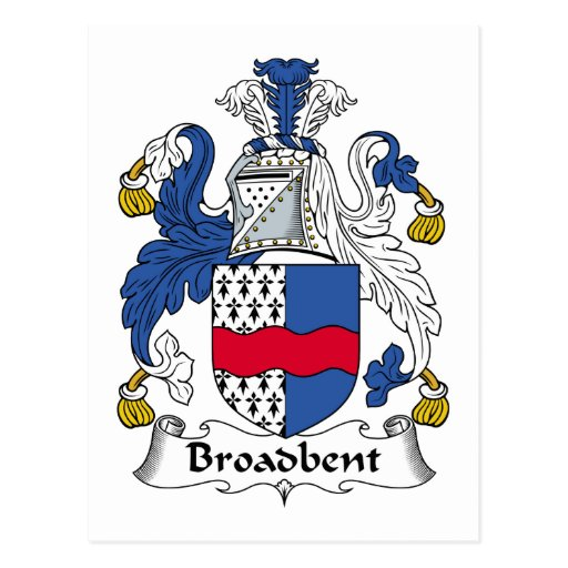 Broadbent Family Crest Post Card