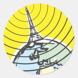 Broadcast Earth Classic Round Sticker