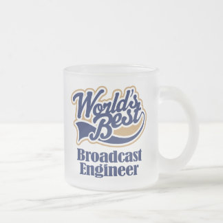 Broadcast Engineer Gift 10 Oz Frosted Glass Coffee Mug