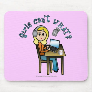 Broadcaster (Blonde) Mouse Pad