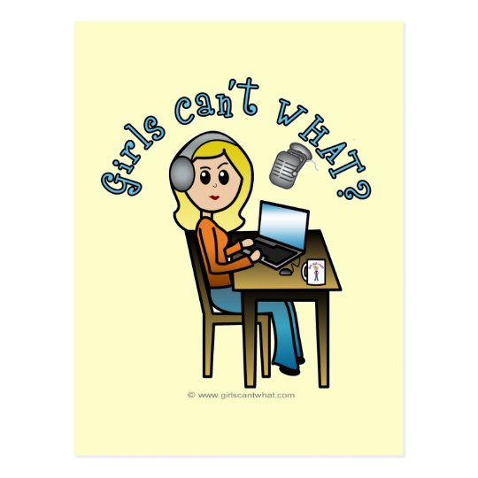 Broadcaster (Blonde) Postcard