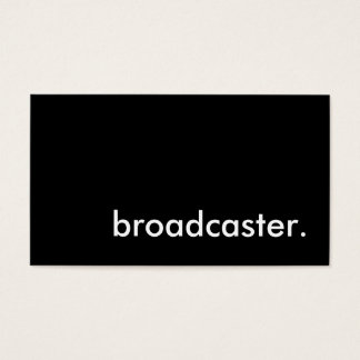 broadcaster. business card