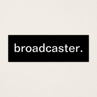 Broadcaster Business Card