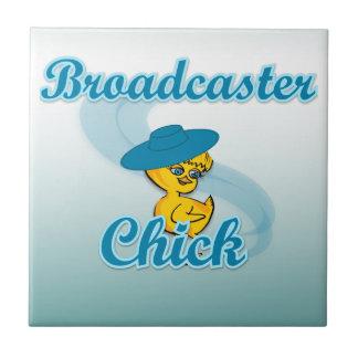Broadcaster Chick 3 Ceramic Tile