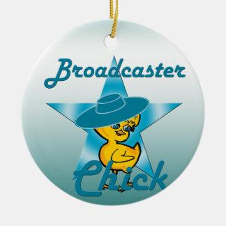 Broadcaster Chick #7 Ceramic Ornament