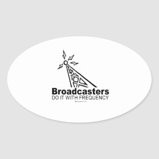 Broadcasters Oval Sticker