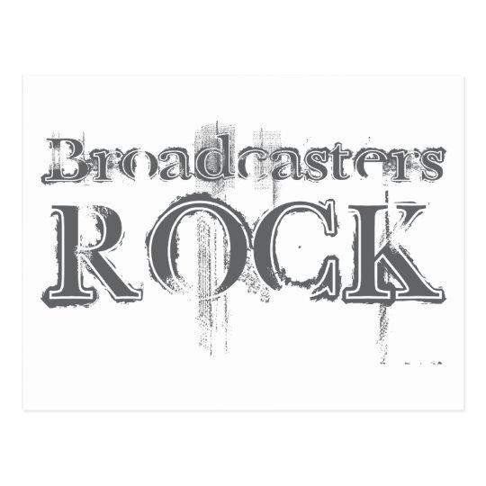 Broadcasters Rock Postcard