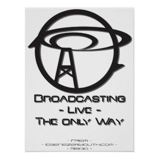 Broadcasting Antenna Poster