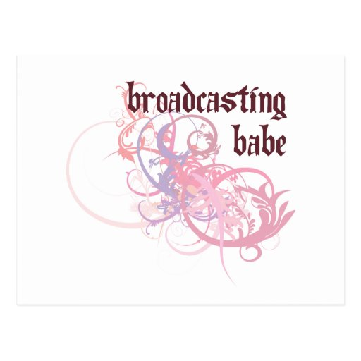 Broadcasting Babe Postcard
