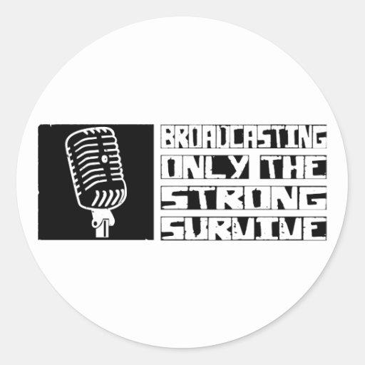 Broadcasting Survive Classic Round Sticker