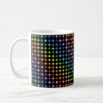 Broader Spectrum 4 Point Rainbow Stars Black Coffee Mug