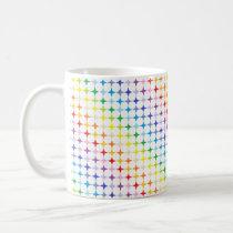 Broader Spectrum 4 Point Rainbow Stars Coffee Mug