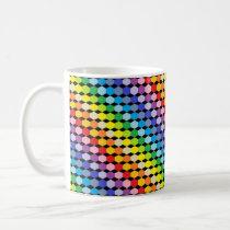Broader Spectrum Rainbow Hexagons Black Coffee Mug