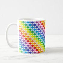 Broader Spectrum Rainbow Hexagons Coffee Mug