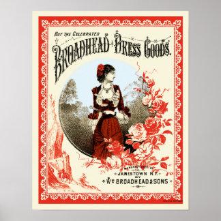 Broadhead Dress Goods Poster