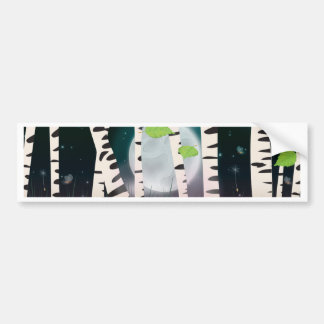 Broadleaved deciduous hardwood Birch Trees Bumper Sticker
