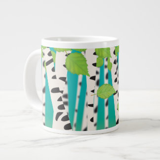 Broadleaved deciduous hardwood Birch Trees Large Coffee Mug