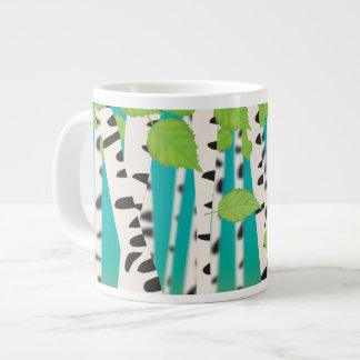 Broadleaved deciduous hardwood Birch Trees 20 Oz Large Ceramic Coffee Mug