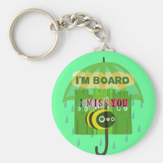 Broadly Speaking I miss You Basic Round Button Keychain