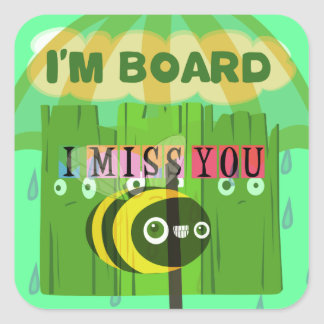 Broadly Speaking I miss You Square Sticker