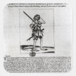 Broadsheet de Dublín, 1647 Calcomanía Cuadrada