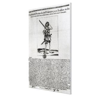 Broadsheet de Dublín, 1647 Impresiones En Lona Estiradas