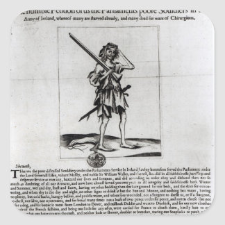 Broadsheet de Dublín, 1647 Pegatina Cuadrada