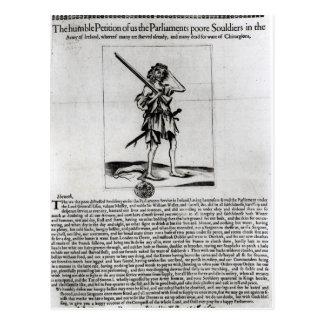 Broadsheet de Dublín, 1647 Tarjeta Postal