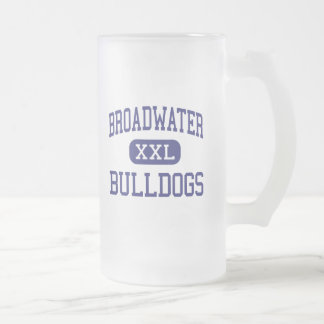 Broadwater - Bulldogs - High - Townsend Montana Frosted Glass Beer Mug