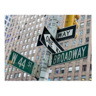 Broadway & 44th - New York City Postcard