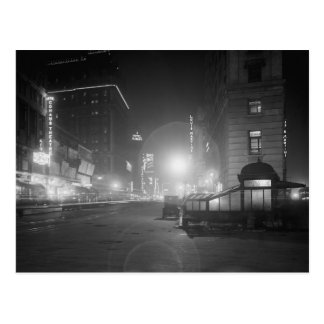 Broadway at Night, 1910 Postcard