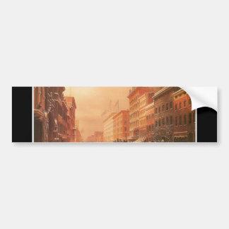 Broadway at Spring Street, New York circa 1855 Bumper Sticker