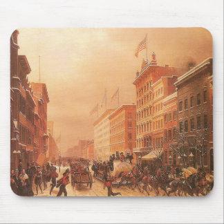 Broadway at Spring Street, New York circa 1855 Mouse Pad