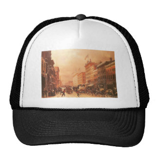 Broadway at Spring Street, New York circa 1855 Trucker Hat